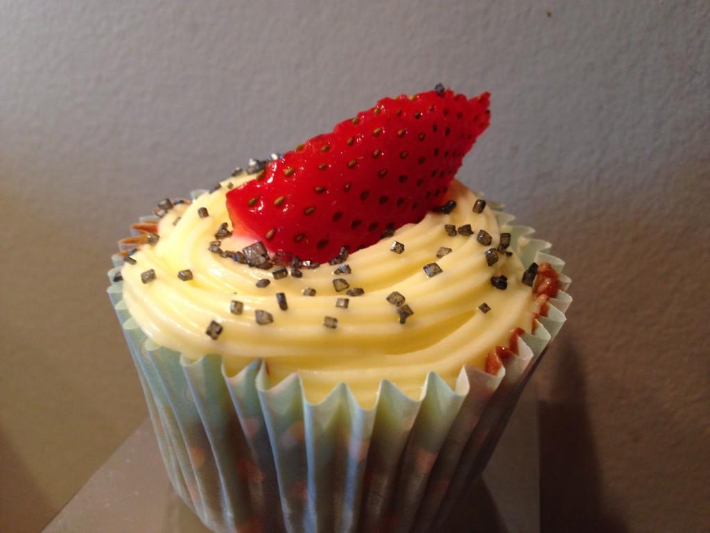 Muffins med jordbærsmak 2