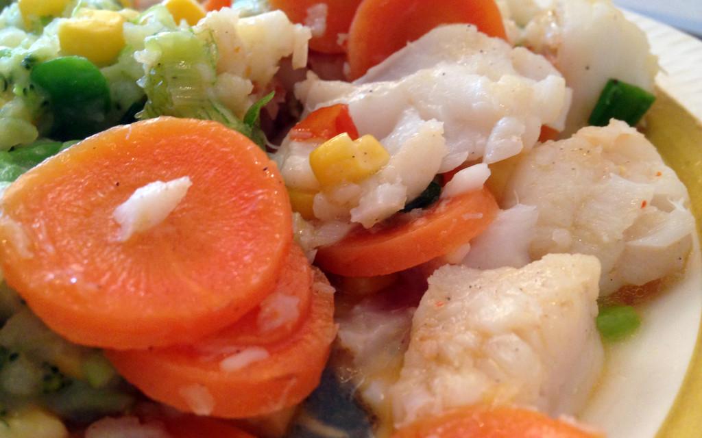 Saftig torsk og knasende sprø grønnsaker ble en skikkelig hit!