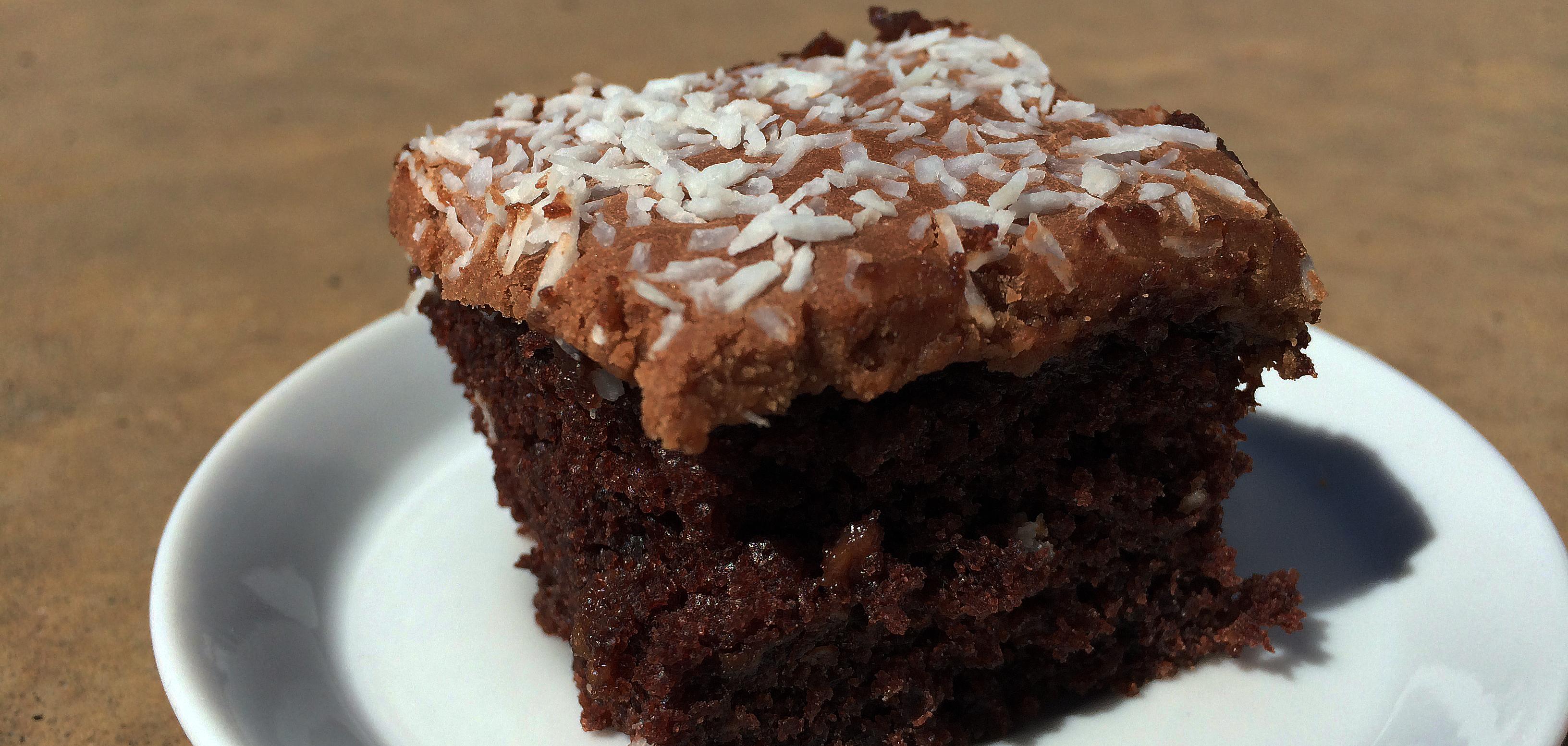 sjokoladekake i langpanne med kefir