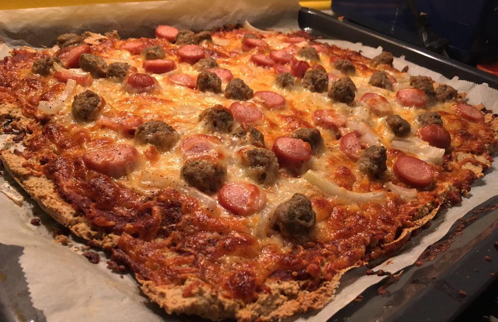 Grov pizzabunn