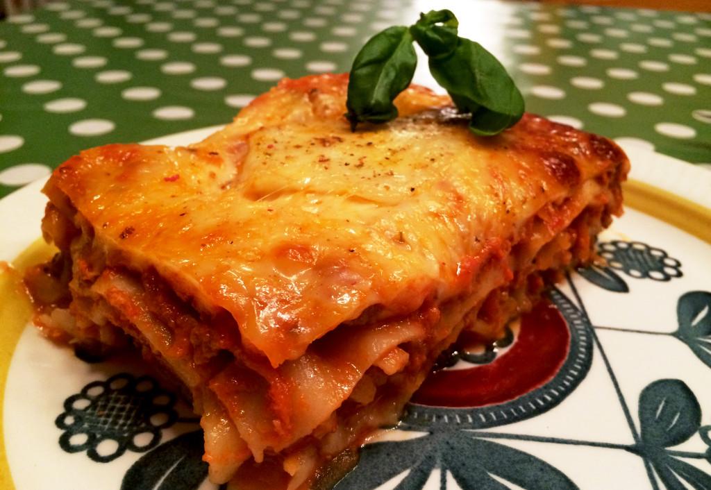 Lasagne uten hvit saus.