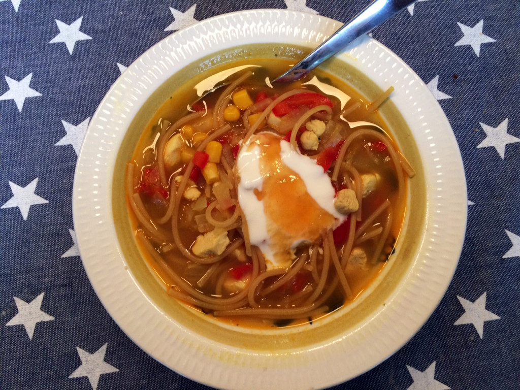 Thaisuppe tilpasset den norske gane