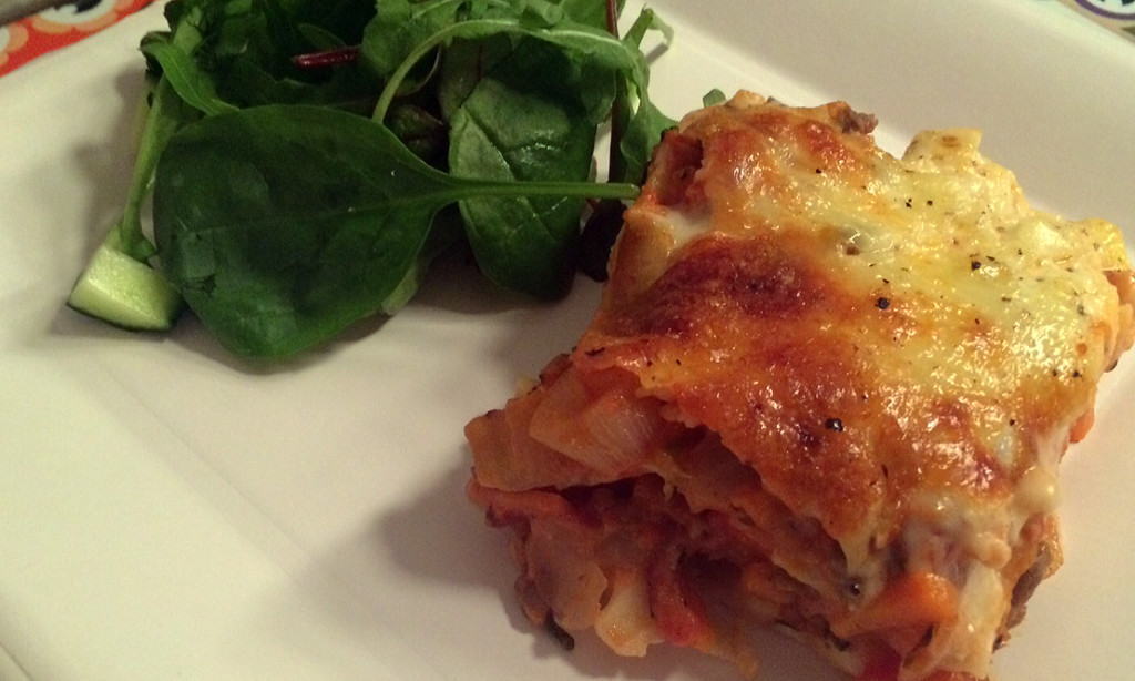 Familievennlig lasagne med masse grønnsaker