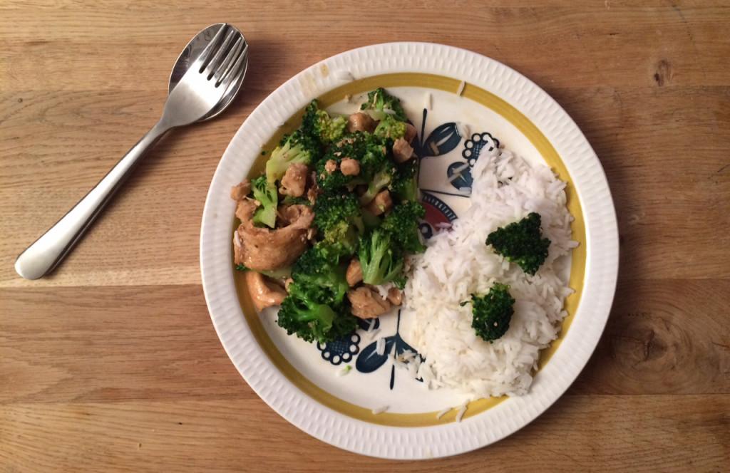 Sesamkylling med brokkoli