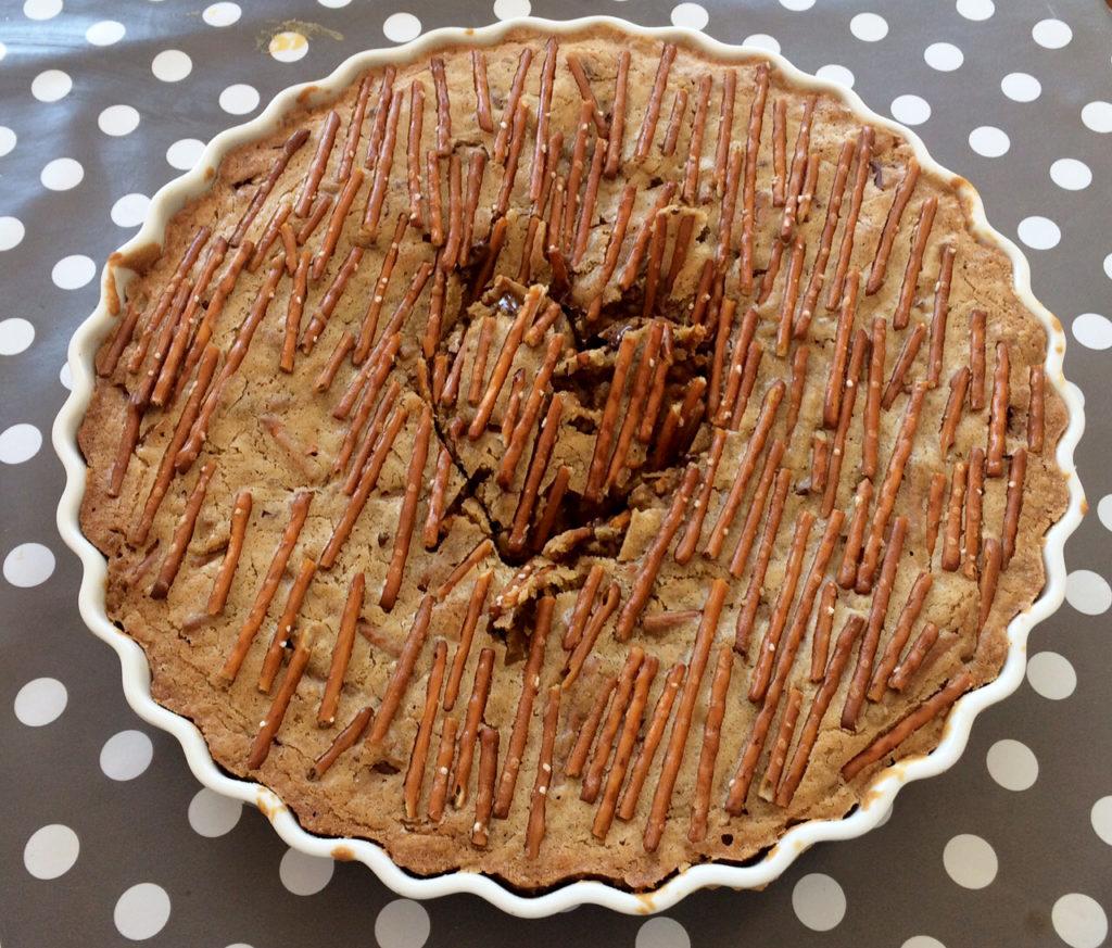Cookie-kake med saltstenger