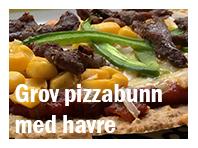 Glutenfri pizzabunn med havre
