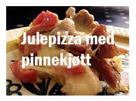 Julepizza med pinnekjøtt