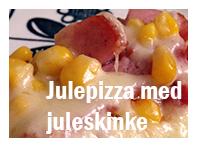 Julepizza med skinke og bacon