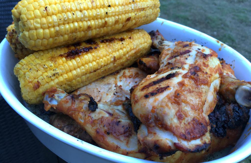 Grillede kyllinglår med mangosaus