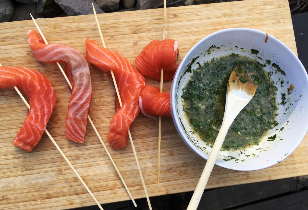 Laksemarinade med persille, sennep og hvitløk