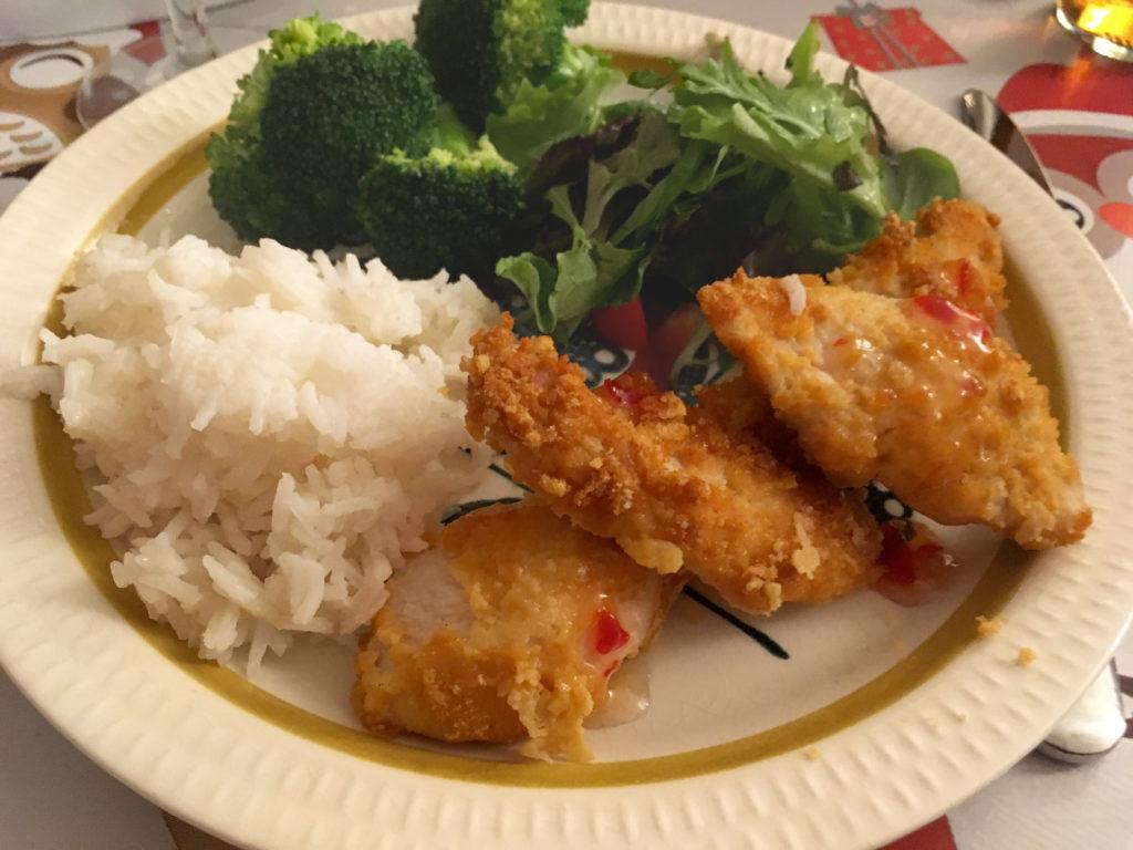 Sprøstekte kyllingstrimler