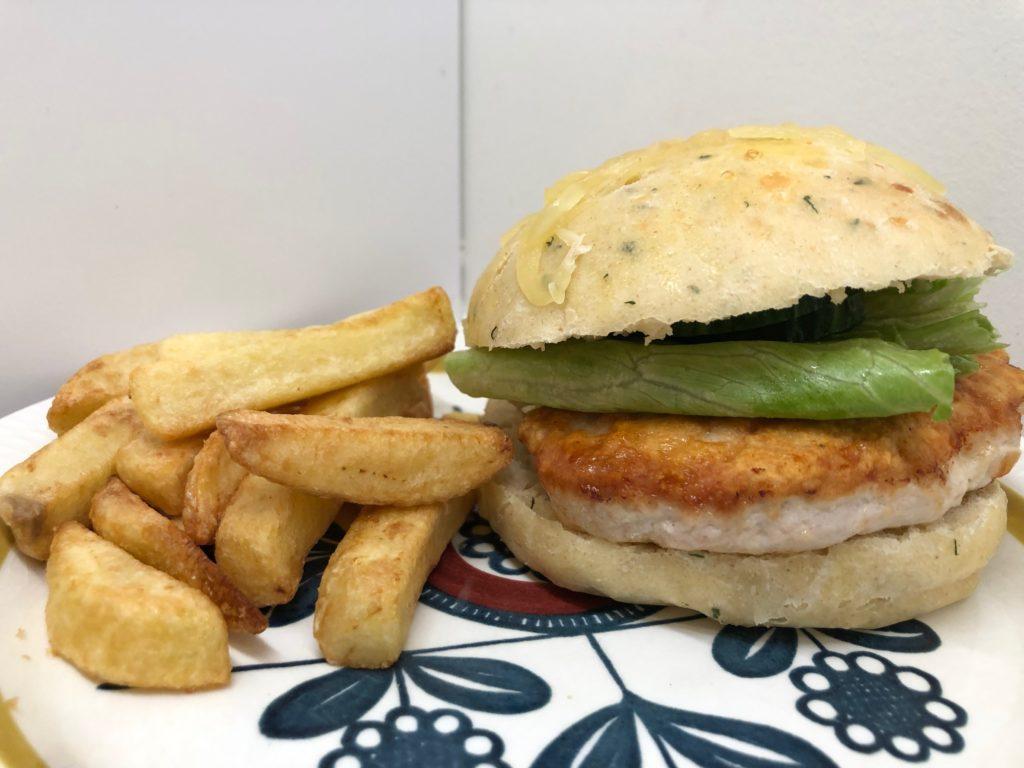 Kyllingburger med bacon