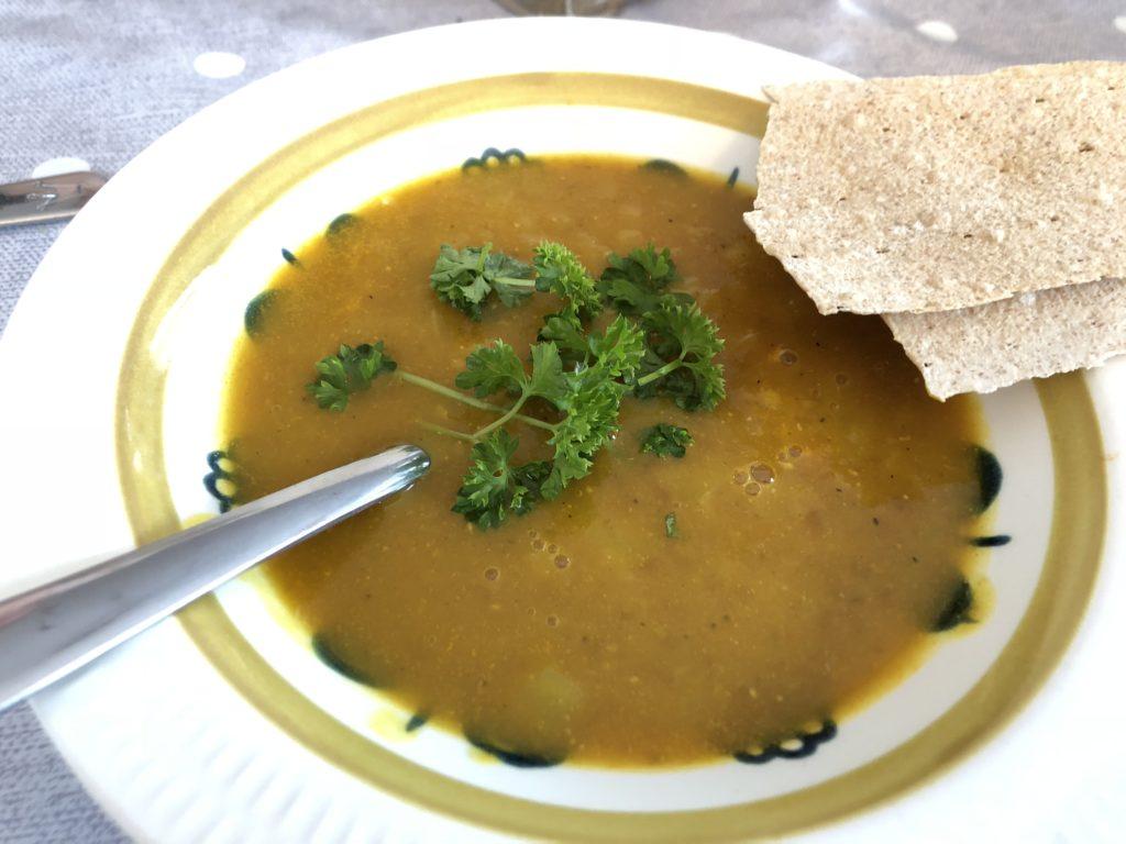Gul linsesuppe (vegansk)