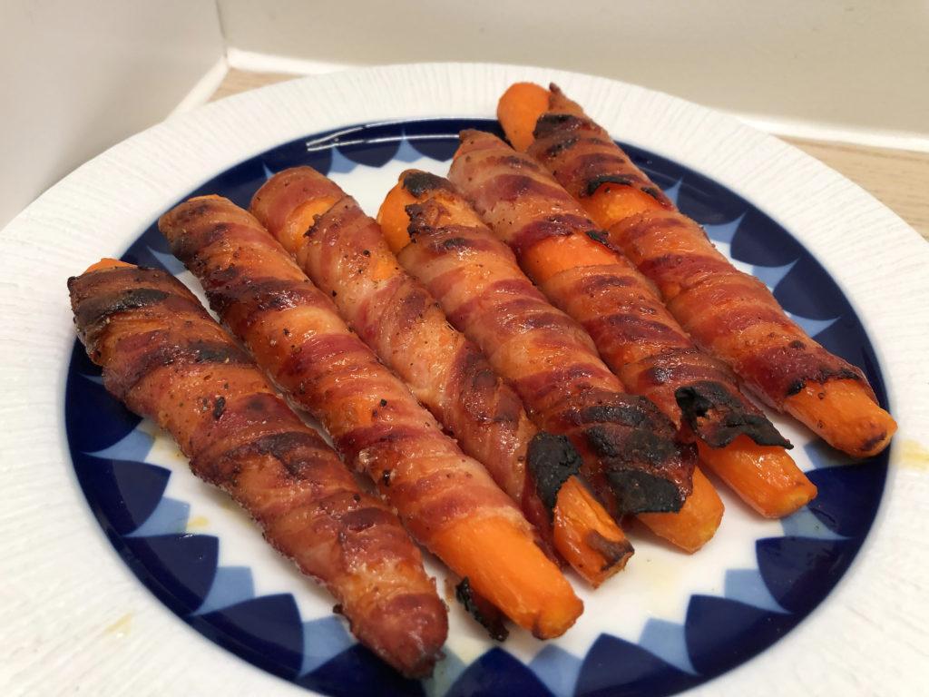 Ovnsbakte bacongulrøtter